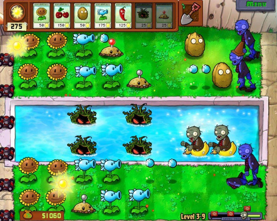 Plants vs zombies скачать на компьютер бесплатно